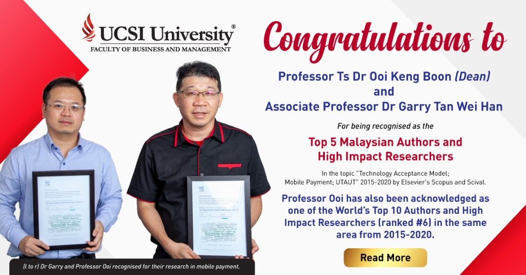 PROFESSOR TS OOI KENG BOON AND DR GARRY TAN WEI HAN RECOGNISED AS HIGH IMPACT RESEARCHERS