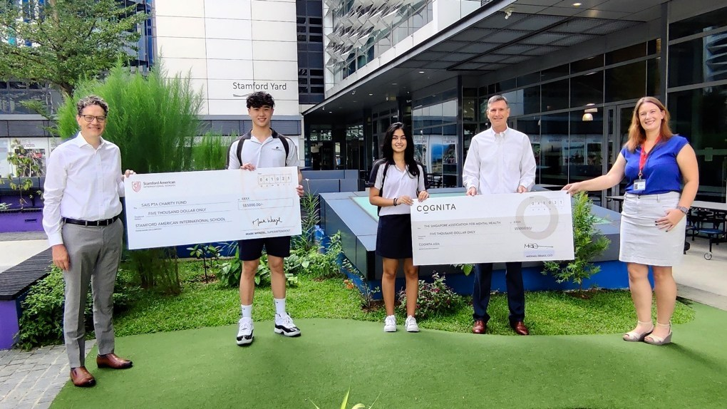 Stamford American International School Raises $5,000 For Charity